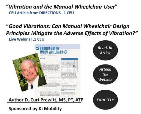 Curt Prewitt raises awareness of vibration and manual wheelchair design principles