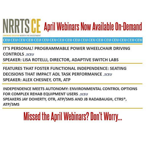 April Webinars Now On-Demand
